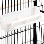 Volière cage à oiseaux à 2 étages Milo & Misty pour perruches, cacatoès, perroquets, inséparables, mandarins et autres ; noir de la marque Milo & Misty image 3 produit