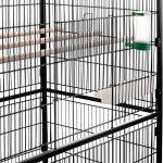 Volière cage à oiseaux à 2 étages Milo & Misty pour perruches, cacatoès, perroquets, inséparables, mandarins et autres ; noir de la marque Milo & Misty image 2 produit