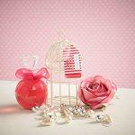 Winter in Venice - Mini cage à oiseaux en lin français - Articles de toiletries de luxe infusées aux fruits naturels et extraits de plantes emballés dans une cage d'oiseau miniature réutilisable. Gagner et Prix Meilleures ventes Ensemble de cadeaux de bai image 2 produit