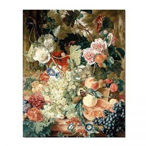 Wjkvds Fruits Fleurs et les insectes sur toile Art mural pour Home Office Decorations-16X 50,8cm de la marque WJKVDS image 0 produit
