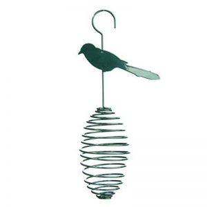 XCLOU GARDEN Xclou Graisse Panier d'Oiseaux en vert, Mangeoire en métal, Mangeoire à oiseaux avec support à spirale, spirale Panier à suspendre de la marque XCLOU GARDEN image 0 produit