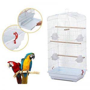 Yahee cage d'oiseaux cage de perroquet volière pour oiseaux perroquet 46 x 36 x 92 cm (Blanc) de la marque Yahee image 0 produit