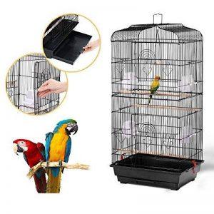 Yahee Cage d'Oiseaux Cage de Perroquet Volière pour Oiseaux Perroquet Couleur Noir 46 x 36 x 92 cm de la marque Yahee image 0 produit