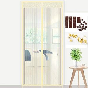 ZHFC Velcro Rideau Anti-moustique magnétique Porte moustiquaire chambre d'été Cryptage des ménages Sable fenêtre coupée Fenêtre de l'écran Gaze,D_110*220 de la marque ZHFC Ménage image 0 produit