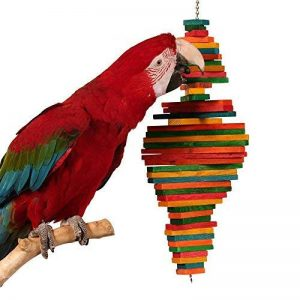 Zoo-Max Cocotte bois Jouet pour oiseau | Medium à suspendre en bois dur jouet d'activité | (55,9x 15,2cm) de la marque Zoo-Max image 0 produit